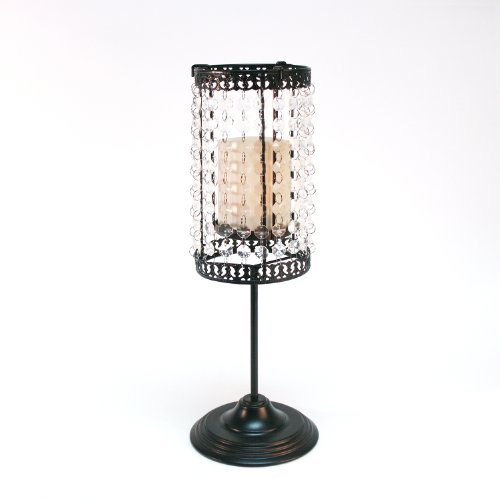Candle Impressions Convertible Clear Beaded Lamp With Flameless Votive