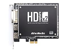 AVerMedia DarkCrystal HD Capture SDK Duo (C129) - 2 HD (HDMI/Component) and 2 SD (S-Video/Composite) PCIe Capture Card, up to 1080p30/i60, with complete SDK for the creation of applications