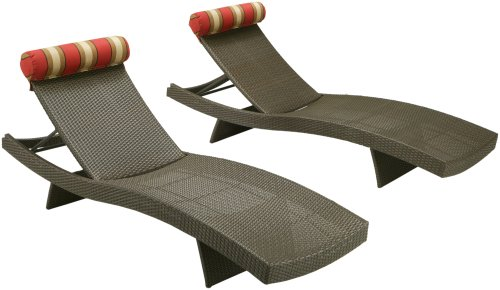 Outdoor Patio Cantina Lounger - Set of 2