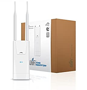 Ubiquiti UniFI AP Outdoor+ WiFi system with form factor built ( 2.4 GHz speed, speed upto 300 Mbps)