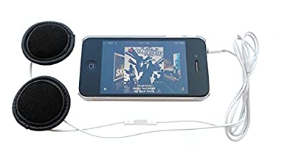 Helmet Stereo Earphones + Microphone, remote-control for recent iDevice models