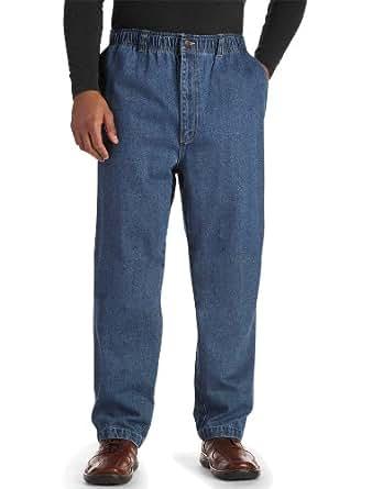Denim Jeans at Amazon Men's Clothing store: Mens Elastic Waist Jeans