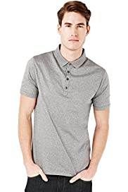 Autograph Pure Cotton Jacquard Spotted Polo Shirt