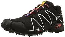 Salomon Men's Speedcross 3 Trail Running Shoe,Black/Black/Silver Metallic-X,9.5 M US