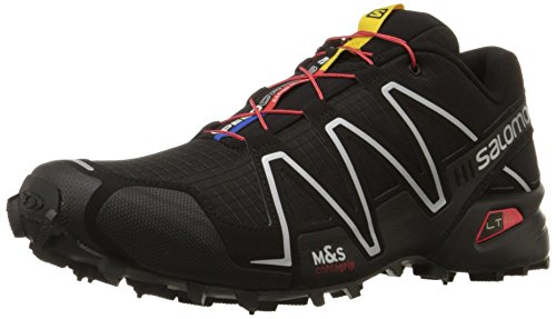 Salomon Men's Speedcross 3 Trail Running Shoe,Black/Black/Silver Metallic-X,9.5 M US