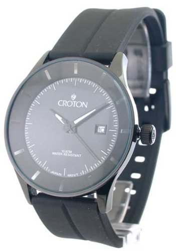 Mens Croton Rubber Date Watch CN307178BSBK