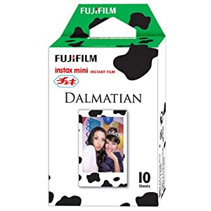 Fuji Instax Mini Films Usable with Polaroid Mio & 300 - Lomo Diana Instant Back - Dalmatian Film -
