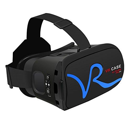 Ingooood Google Cardboard VR CASE Virtual Reality 3D Glasses Headset VR 3D Glasses for Smartphone Blue