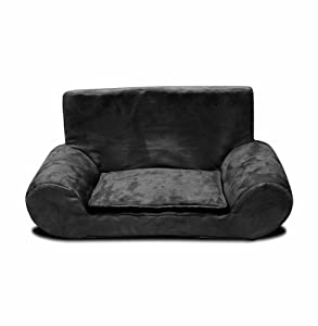 Best Friends by Sheri Bolster Sofa Pet Bed, 15 by 26.5 by 12.5-Inch, Black