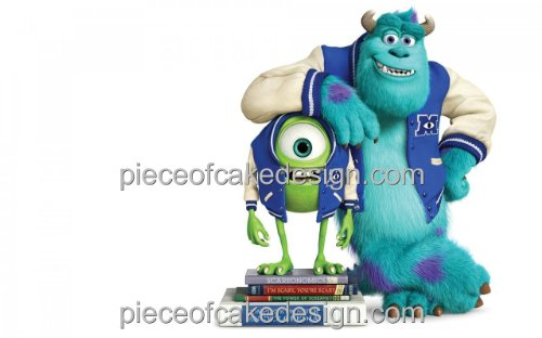 1/4 Sheet ~ Monster University Mike & Sully Birthday ~ Edible Image Cake/Cupcake Topper!!!