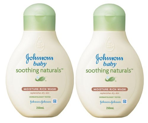 Johnson`S Baby Soothing Natural Moisture Rich Wash 250Ml X 2 Items