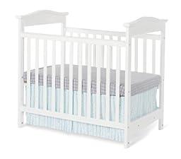 Foundations Worldwide The Princeton Clear Choice Mini Crib, White