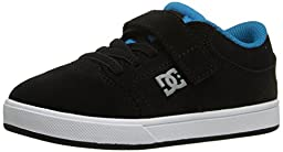 DC Crisis Skate Shoe (Toddler), Black/Ocean/White, 5 M US Toddler