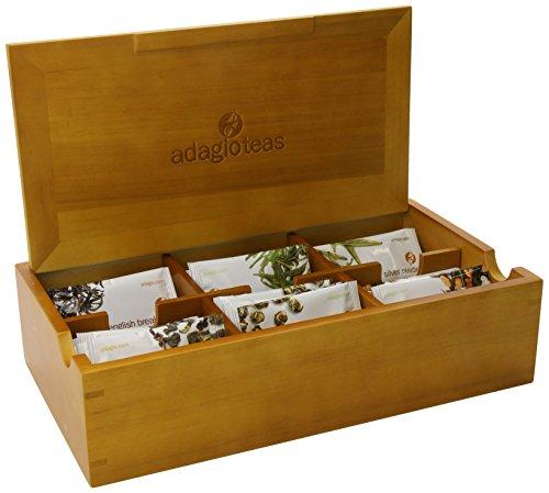 Adagio Teas Tea Chest With Six Gourmet Tea Varieties, 24 Full-Leaf Tea Bags
