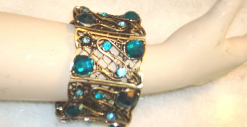 Imported Antique Gold Plated with Simulated Stones Bangles for Women and Teens