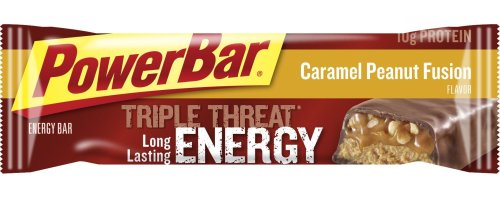 PowerBar Triple Threat Energy Bar, Caramel Peanut Fusion, 1.94-Ounce Bars (Pack of 15)
