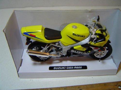 Suzuki Motorcycle GSX-R600 Yellow / Black 1:12 Scale