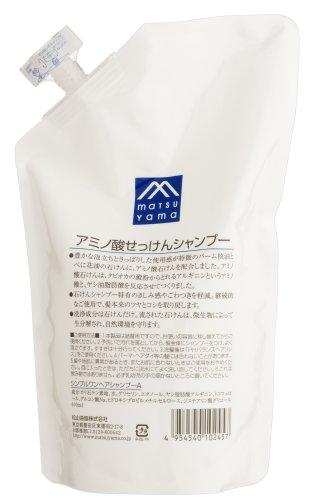 Matsuyama Yushi M mark | Shampoo | Amino Acid Soap Shampoo Refill 600ml (Japan Import)