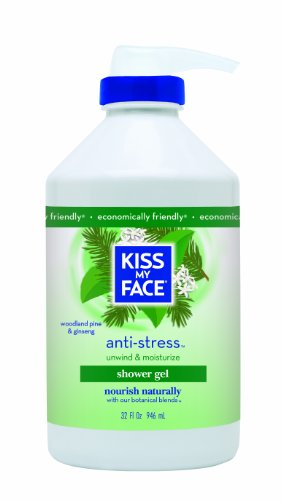 Kiss My Face Anti-stress Bath and Shower Gel, Value Size, 32 Ounce