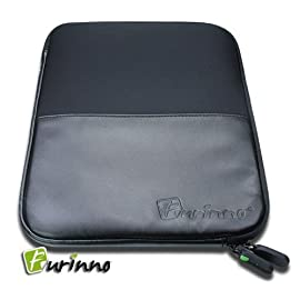Furinno Premium PU Leather Android Tablet Netbook Neoprene EVA Case Sleeve Bag Cover, 7-Inch to 9-Inch