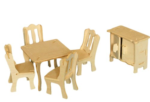 Puzzled Dining Room 3D Woodcraft Construction Kit - 1
