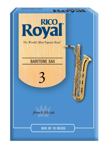Rico Royal Baritone Sax Reeds, Strength 3.0,