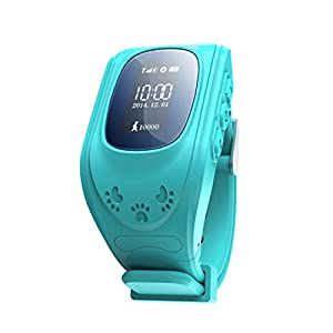 ROYALFiT SIM Card SOS LBS Position Child GPS Tracker Watch PT-AW2 (Blue)