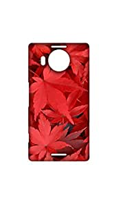Red Leaves Stylish Mobile Case/Cover For Microdoft Lumia 950 XL