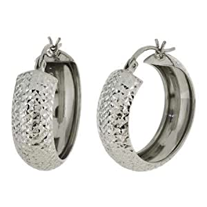 sterling silver hoop earrings 3 4 inch jewelry
