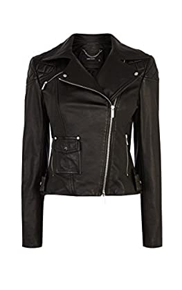Signature black leather biker jacket
