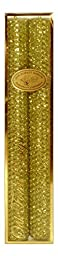 Premium Handmade Glittering Beeswax Candles, Chartreuse Color, 10-Inch, Box Set of 2