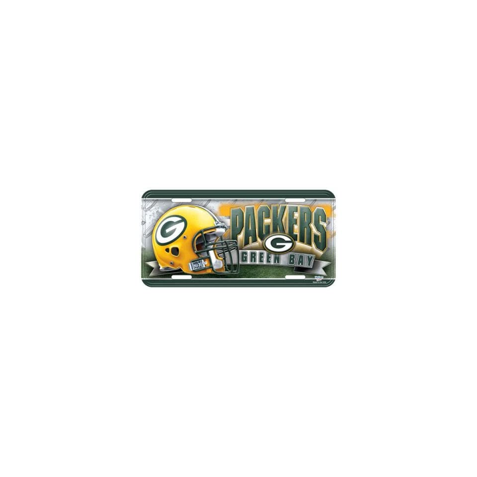 Green Bay Packers NFL Embossed Metal License Plate Car Auto Front Novelty Tag Automotive