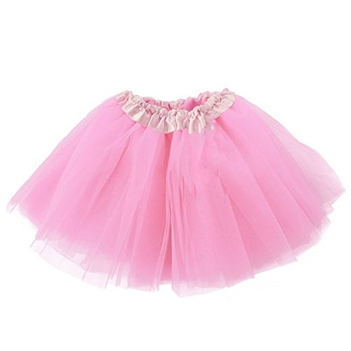 Jastore Girls' Toddlers Tutu Classic Triple Layer Ballet Dance Skirt (Pink) (Pink Dance Costume)