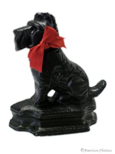 Cast Iron Black SCOTTISH Dog TERRIER Door STOPS Stop Doorstop Stopper