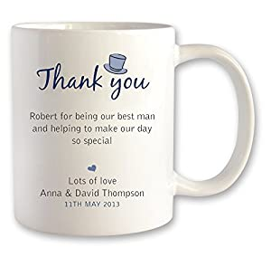 Best Thank You Wedding Gifts : Personalised BEST MAN wedding mug thank you gift ideamessage design ...