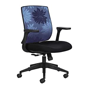 Safco Products Bliss Mid Back Chair, Blue, 7202BU1