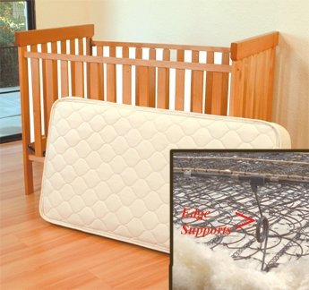 Organic Wool/Cotton Crib 242 Coil Mattress 28x52