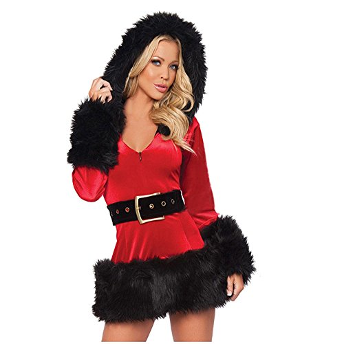 Women's Sexy Holiday Christmas Costume Santa's Sweetie