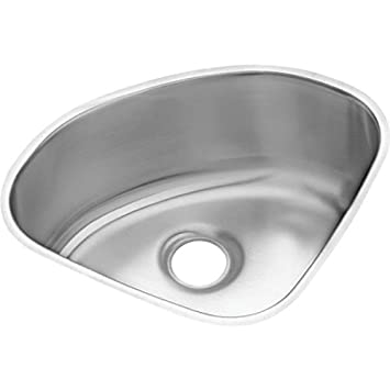 Elkay ELUH1111 Mystic Lustertone Stainless Steel 14-Inch x 14-Inch Single Basin Undermount Kitchen Sink