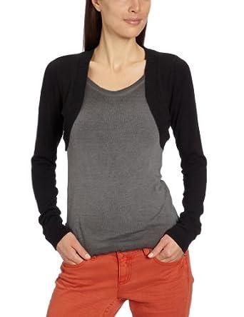 VILA CLOTHES Damen Strickjacke 40001889 Rob New L/S Bolero, Gr. 36/38 (S/M), Schwarz (BLACK)