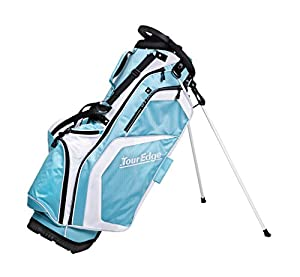 Tour Edge Women's Hot Launch Stand Bags, Light Blue/White