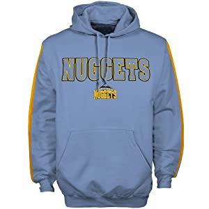 NBA Majestic Denver Nuggets Powder Blue Classic Pullover Hoodie Sweatshirt by Football Fanatics