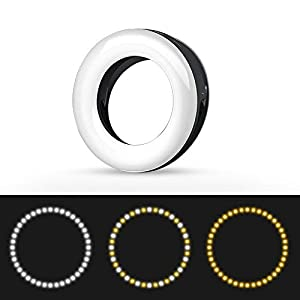 XINBAOHONG Rechargeable Portable Clip-on Selfie Fill Light with 40 LED for Smart Phone Photography Camera Video Selfie Ring Light Girl Makes up White, 40LED