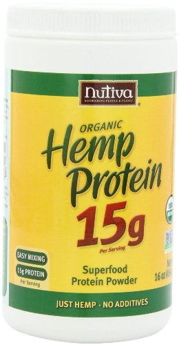 Nutiva Organic Hemp Protein, 2 Pack (16 Ounce each)