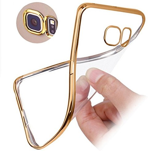 Hutz Meephone Noble Electroplated Golden Edge Ultra Thin TPU Flexible Back Cover Case For Micromax Canvas Fire A104  available at amazon for Rs.199