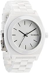 Nixon Women's 'Ceramic Time Teller' Quartz White Casual Watch (Model: A250-100-00)