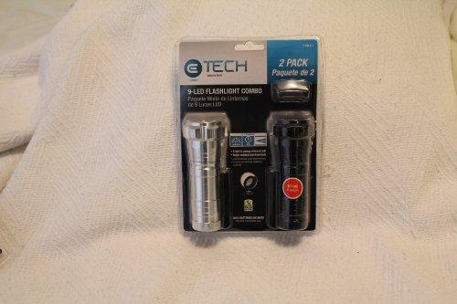2 Pack 9-Led Flashlight Combo