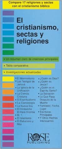 Christianity, Cults and Religions Pamphlet (Compare 18 World Religions and Cults at a Glance!) (Spanish Edition)