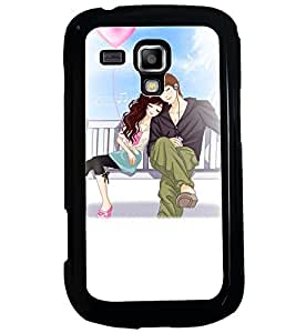 Printvisa Romantic Couple On A Bench Back Case Cover for Samsung Galaxy S Duos S7562