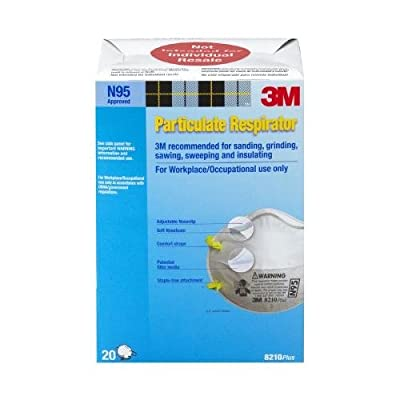 3M 8210PB1-A N95 Particulate Respirator 20 Pack,